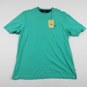 TOMMY BAHAMA $50 SZ L CAVE GREEN MARLIN T-shirt L